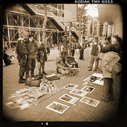 Holga Camera Prints - A Walk Through Paris 6 Print by Mike McGlothlen