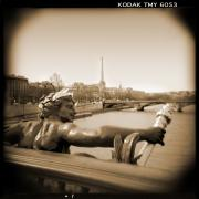 Holga Camera Prints - A Walk Through Paris 7 Print by Mike McGlothlen