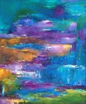 Abstract Zen Art Paintings - A Walk to Remember by Johnathan Harris