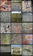Collages Acrylic Prints - A Wall of Walls by Roberto Alamino