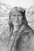 Chief Drawings Originals - A Walpi Man - The Vanishing Culture by Steven Paul Carlson