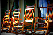 Rocking Chairs Photos - A Warm Beauvoir Welcome by Carol Groenen