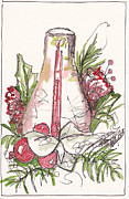 Hurricane Lamp Prints - A Warm Christmas Memory Print by Michele Hollister - for Nancy Asbell