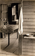 1930s Candid Framed Prints - A Washstand In The Dog Run And View Framed Print by Everett