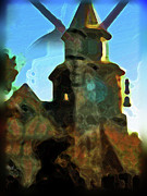 Abstract Digital Art  - A Watchtower by Natalya Shvetsky