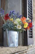 Sill Photos - A Water Pitcher Holding Flowers by Keenpress