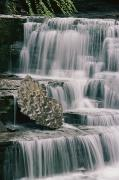 Ithaca Prints - A Waterfall And Sculpted Rock In Robert Print by Skip Brown