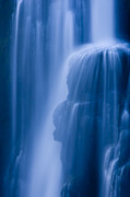 Zambia Waterfall Metal Prints - A Waterfall Splashes Off Of A Large Metal Print by Ralph Lee Hopkins
