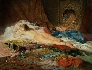 Odalisque Painting Metal Prints - A Wealth of Treasure Metal Print by Della Rocca
