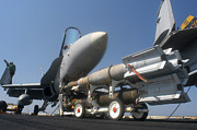 Paveway Posters - A Weapons Skid Carrying 500-pound Poster by Stocktrek Images