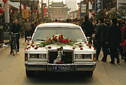 Jiangsu Province Framed Prints - A Wedding Limousine With Flowers Rolls Framed Print by Justin Guariglia