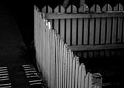 Picket Fence Prints - A White Picket Fence Print by Jakub Sisak