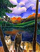 Yellowstone Painting Metal Prints - A Wild Place Metal Print by Harriet Peck Taylor
