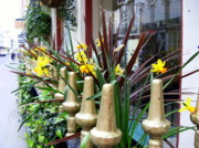 London England  Digital Art - A Window of Daffodils in London by Mindy Newman