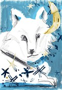 Looking At Camera Digital Art - A Wolf by Mamiko Ohashi