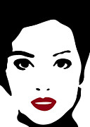 Stencil Portrait Posters - A woman in fashion Poster by Frank Tschakert
