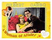 Love Triangle Posters - A Woman Of Affairs, Top Left Greta Poster by Everett