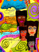 Grief Therapy Mixed Media - A Woman Oughta Know... by Angela L Walker