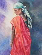 Indian Woman Prints - A Womans Work Print by Kate Bedell