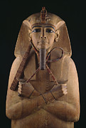 Pharaoh Posters - A Wooden Coffin Case Of The Pharaoh Poster by O. Louis Mazzatenta