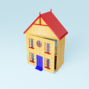 Home Ownership Prints - A Wooden Dolls House Print by Jon Boyes