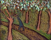 Woodland Pastels Originals - A woodland walk by Peter  McPartlin
