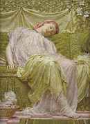  Drapery Paintings - A Workbasket by Albert Joseph Moore