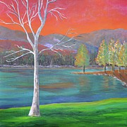 Lakeside Paintings - A World of Color by Reb Frost