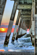 Piers Prints - A Wrightsville Beach Morning Print by JC Findley