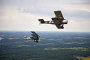 Bi Planes Photos - A Wwi Sopwith 1-12 Strutter Biplane by Pete Ryan