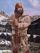Pittsburgh Steelers Paintings - A Wyoming Spirit- Brett Keisel by Denny Karchner