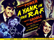 1941 Movies Posters - A Yank In The R.a.f., Tyrone Power Poster by Everett