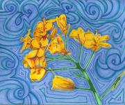 Texas Drawings - A Yellow Flower in the wind by Will Stevenson