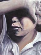 Crying Boy Paintings - A Young Hearts Prayer by Penny Neimiller