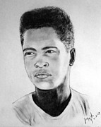 Clay Drawings - A Young Muhammad Ali AKA Cassius Clay by Jim Fitzpatrick