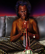 Trumpet Paintings - A Zillion Miles From Here by Reggie Duffie
