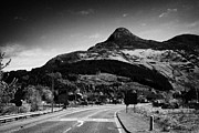Highlands Of Scotland Prints - A82 Road Into Glencoe With The Pap Of Glencoe In The Highland Of Scotland Uk Print by Joe Fox