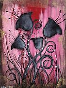 Roses Poppies Paintings - Aaliyah by  Abril Andrade Griffith