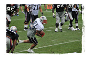 Patriots Framed Prints - Aaron Hernandez Framed Print by Mike Martin