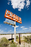 Route 66 Framed Prints - Abandonded Motel Framed Print by Peter Tellone