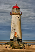 Lighthouse Digital Art Acrylic Prints - Abandoned Acrylic Print by Adrian Evans