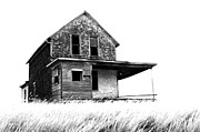 Abandoned Farm Framed Prints - Abandoned and Alone 2 Framed Print by Bob Christopher