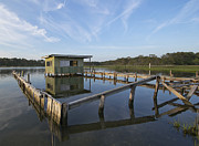 Maryland Photos - Abandoned Boat Dock -  Assateague Island National Seashore - Maryland by Brendan Reals