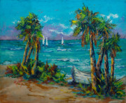Boat On Beach Paintings - Abandoned Boat by Mary DuCharme