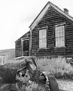 Antique Fan Prints - Abandoned Car and Home Bodie CA Print by Troy Montemayor