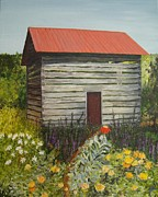 Shed Painting Prints - Abandoned Print by Carole Wilson