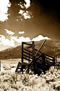 Gary Brandes Photo Acrylic Prints - Abandoned Cattle Shoot Acrylic Print by Gary Brandes