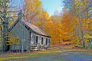 Fall Scenes Photo Originals - Abandoned Church by Alan Lenk