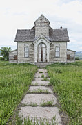 Stepping Stones Prints - Abandoned Countryside Church Print by Dave & Les Jacobs