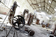Machinery Photo Framed Prints - Abandoned Factory Framed Print by Carlos Caetano